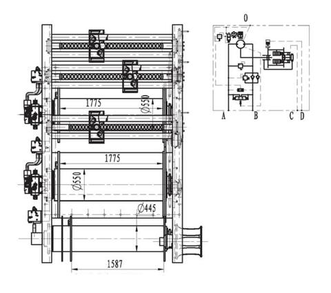 Гидравлическая схема верхнего барабана
