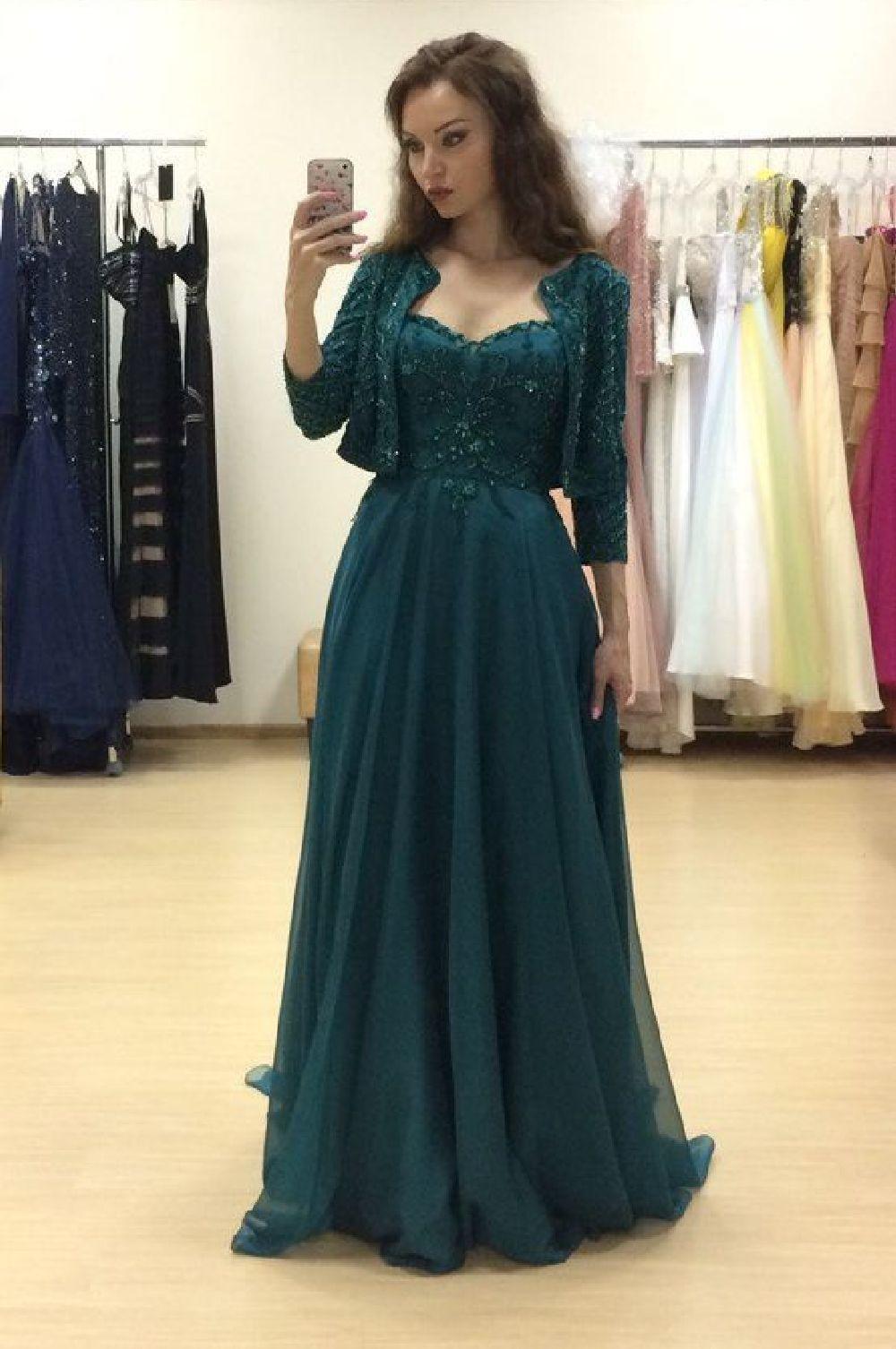 MacDuggal 16217 Зеленое платье А-силуэта, длинное из мягкой, струящейся ткани