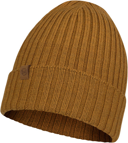 Вязаная шерстяная шапка Buff Hat Wool Knitted Norval Mustard фото 2