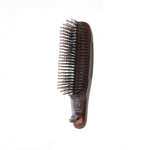 Расческа Scalp Brush Kom (коричневая, жесткая щетина)