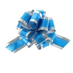 Бант-шар №5 синий в серебре / 1 шт. /