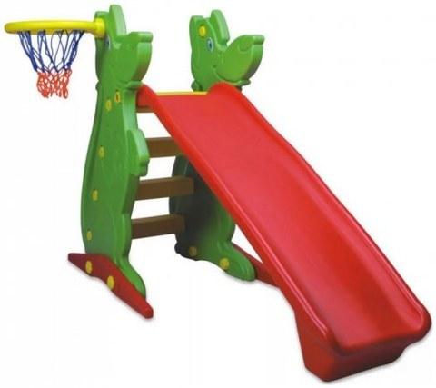 Пластиковая горка с баскетбольным кольцом KING KIDS KK_KS9061