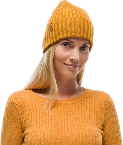 Вязаная шерстяная шапка Buff Hat Wool Knitted Norval Mustard фото 1