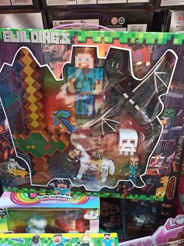 Набор Майнкрафт фигурки с мечом и драконом