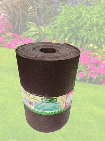 Лента бордюрная  25 см, толщина 3 мм, в рулоне 10 метров, коричневая