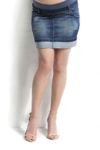 Юбка для беременных джинсовая 06466 синий