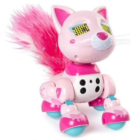 Интерактивный котенок розовый Чик