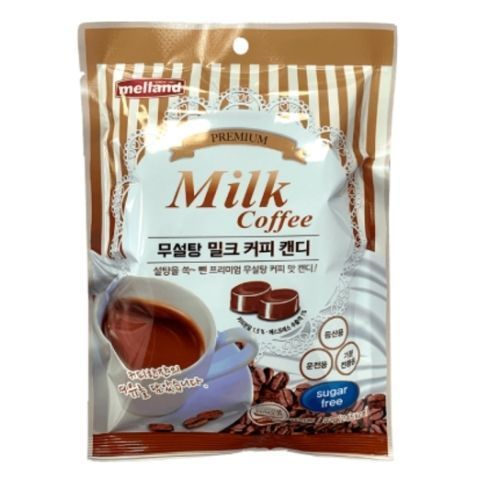 Карамель без сахара кофе с молоком Melland Корея, 92 г