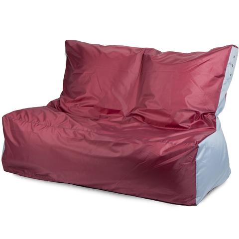 Бескаркасный диван «Классический», Бордовый и серый