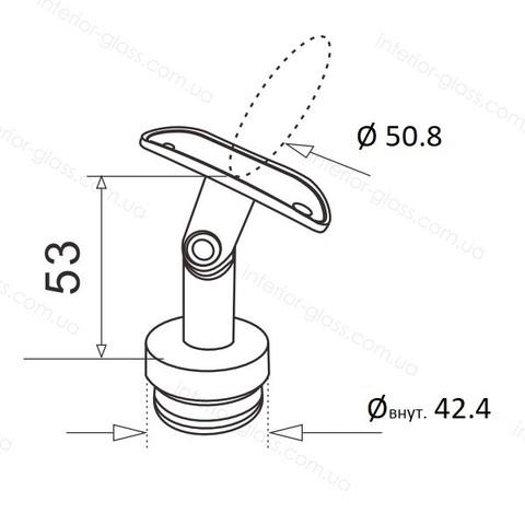 Верхний элемент стойки D=42,4 мм ST-423 с регулируемым ложементом