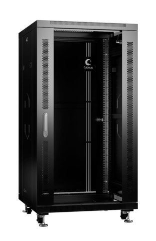Шкаф напольный 19-дюймовый, 22U SH-05C-22U60/60-BK (8556c)