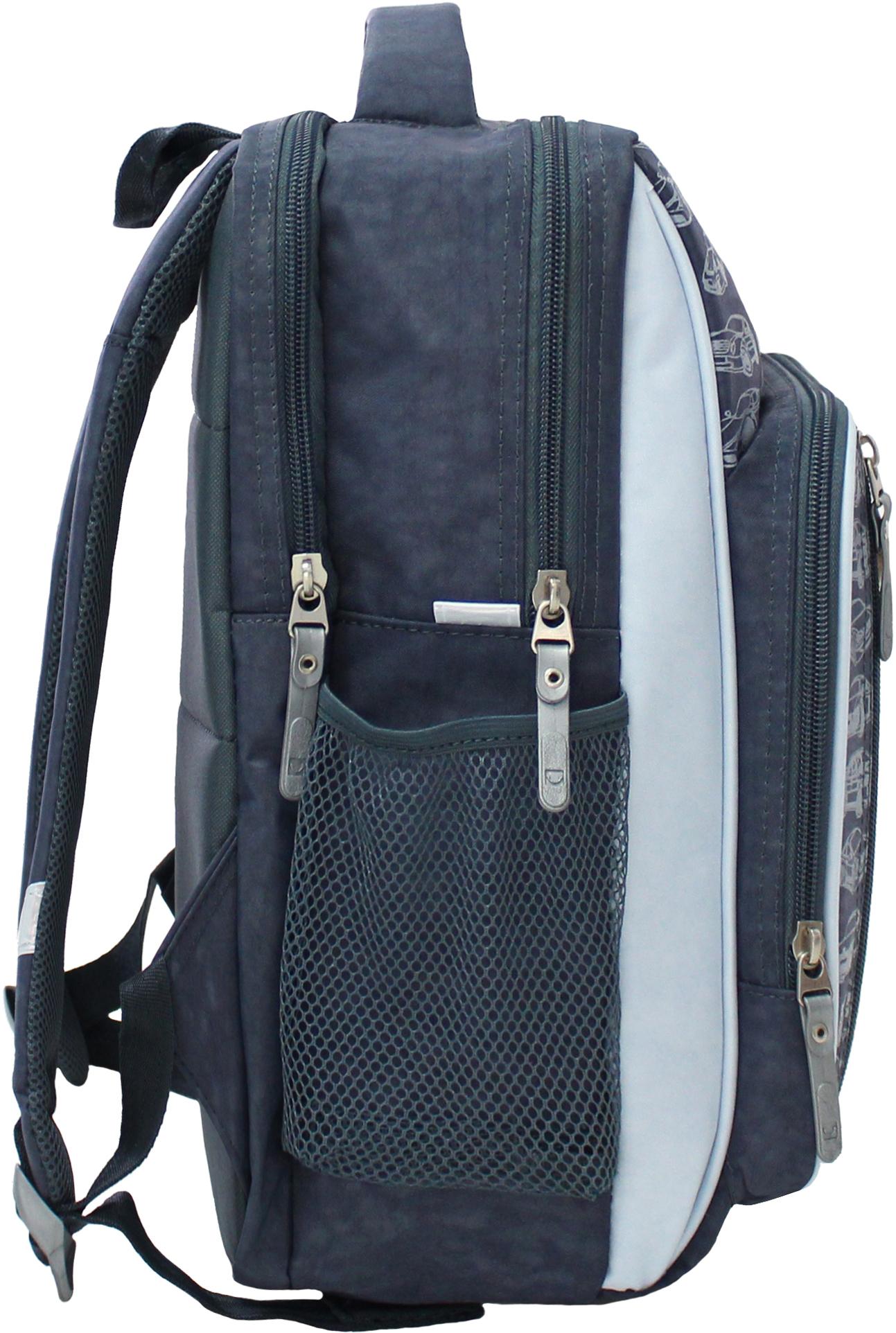 Рюкзак школьный Bagland Школьник 8 л. 321 сірий 43 м (00112702)