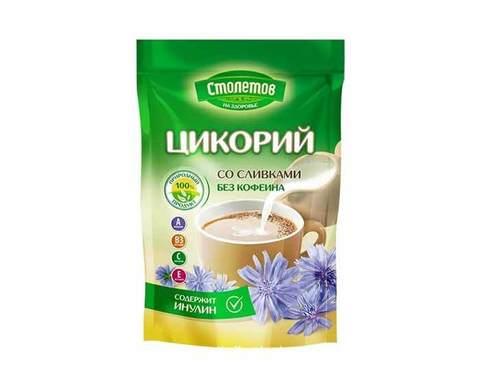 Цикорий Столетов растворимый со сливками без кофеина, 100 г