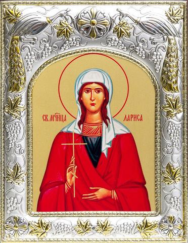 Серебряная икона Лариса Готфская  18x14см