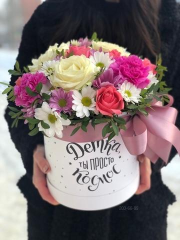 Цветы в шляпной коробке #10998