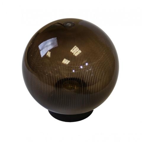Садово-парковый светильник шар дымчатый призма D250mm с металлической опорой H1000mm