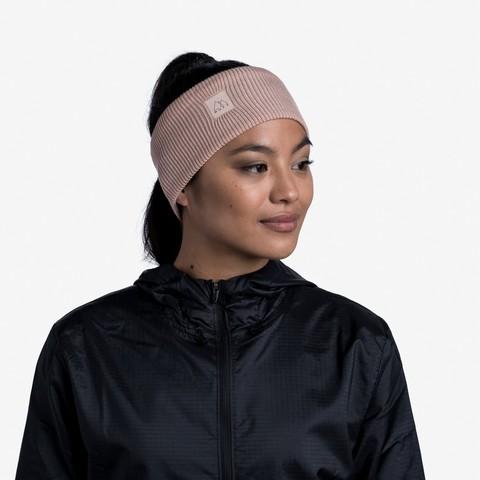Повязка Buff Crossknit Headband Solid Pale Pink фото 2