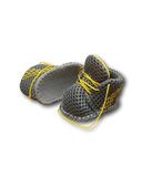 Спортивные ботинки - Серый / желтый. Одежда для кукол, пупсов и мягких игрушек.