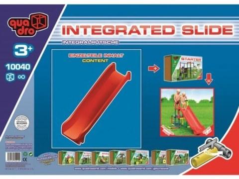 Прямая цельная горка Quadro Integrated slide арт. 10040 (только скользящая поверхность)