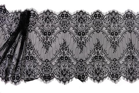 Кружево реснички черное (45х300 см)