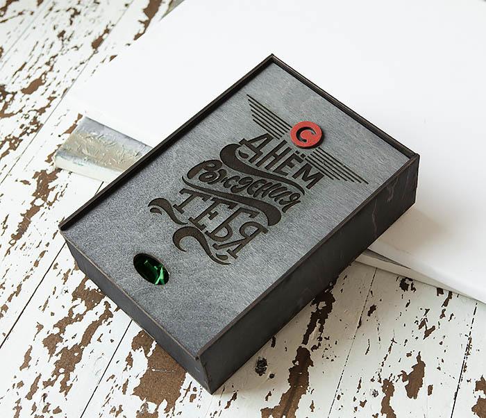 BOX229-1 Большая мужская коробка из дерева для подарков (18*26*7,5 см) фото 03