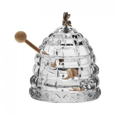 Ваза для меда  Улей с пчелкой  BOXES 11,8см (БПХ176)