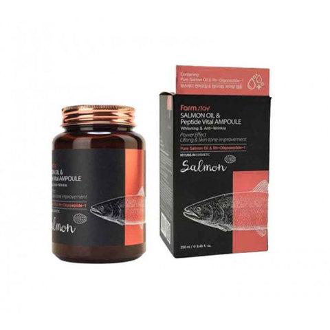 Farm Stay Salmon Oil & Peptide Vital Ampoule  Сыворотка с маслом лосося и пептидами 250мл