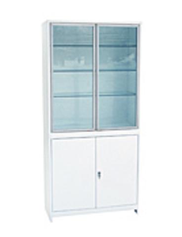 Медицинский шкаф (ШМС-2-А) ШМС-2 в алюминиевой раме - фото