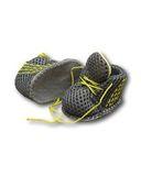 Спортивные ботинки - Серый / лимон. Одежда для кукол, пупсов и мягких игрушек.