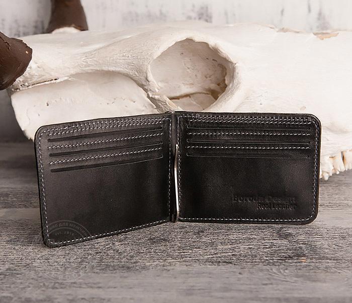 WB108-4 Яркий кошелек ручной работы с зажимом для денег. «Boroda Design» фото 03