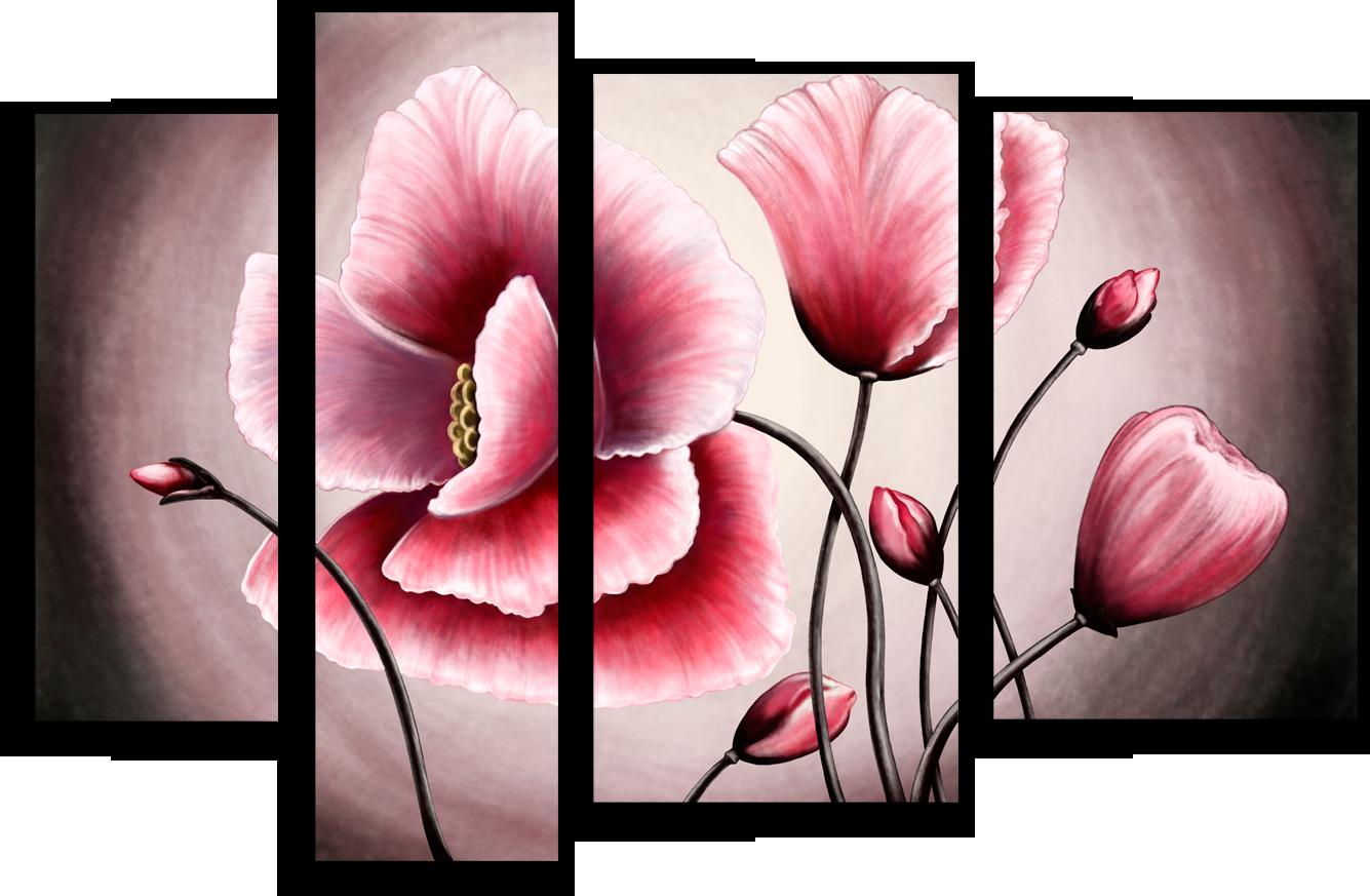 """Модульные картины Модульная картина """"Цветущие маки"""" М82.png"""
