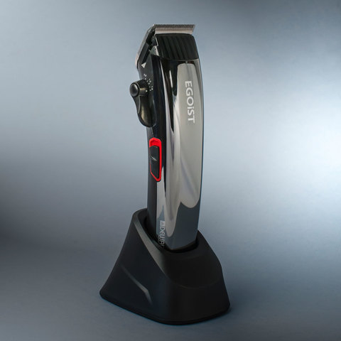 Машинка для стрижки Dewal Egoist, аккум/сетевая, 4 насадки, серебристая