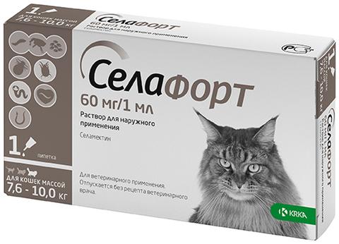 Селафорт 6% 60 мг. для кошек 7,6-10 кг.  1 мл.