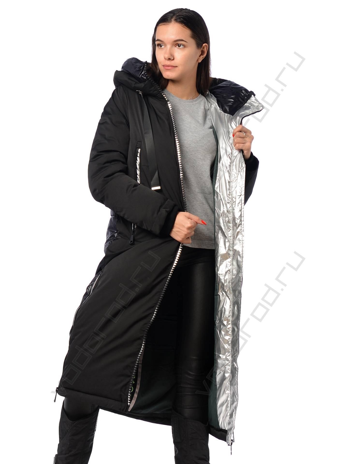 Удлиненная зимняя женская куртка в Хабаровске купить