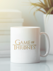 Кружка с рисунком Игра престолов (Game of Thrones) белая 0012