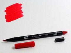 Маркер-кисть Tombow ABT Dual Brush Pen-856, красный китайский