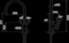 Смеситель Omoikiri Wakayama-C схема
