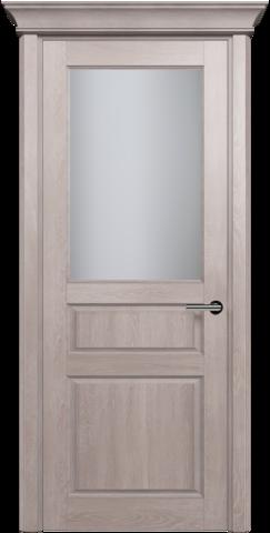 CLASSIC 532 Дуб Серый стекло Сатинато Белое