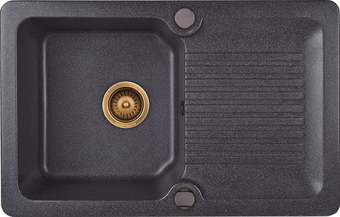 Мойка для кухни Kuppersberg ANCONA 1B1D BLACK