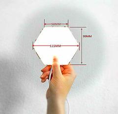 Размеры светильника соты