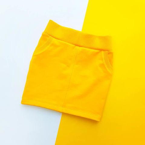 Юбка желтая