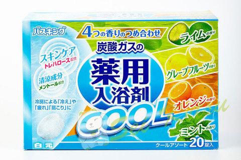 Fuso Kagaku Cool Соль для ванны на основе углекислого газа с охлаждающим эффектом и ароматами мяты,