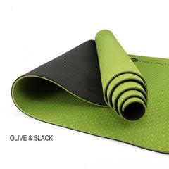 Yoqa xalçası \ Yoga Mat \ Коврик для йоги TPE 6мм Olive Black