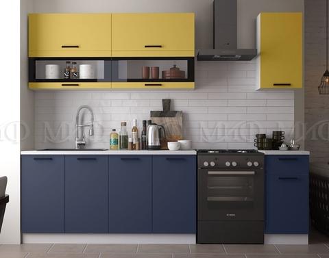 Кухня Техно NEW 2.0 м горчица-ультрамарин