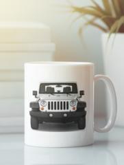 Кружка с рисунком Jeep (Джип) белая 0011