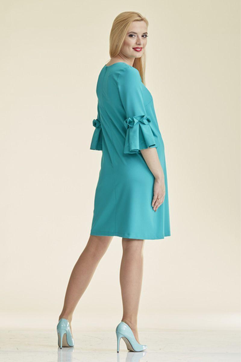 Фото платье для беременных Mama i Ja от магазина СкороМама, бирюзовый, размеры.