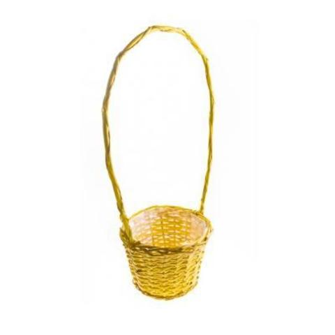 Корзина плетеная, 18х13/13х50см, желтый