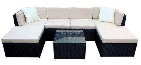Комплект садовой мебели Sundays KENTUCKY KX-004BLK-23 черный