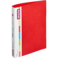 Папка на 2-х кольцах Attache 32 мм красная до 200 листов