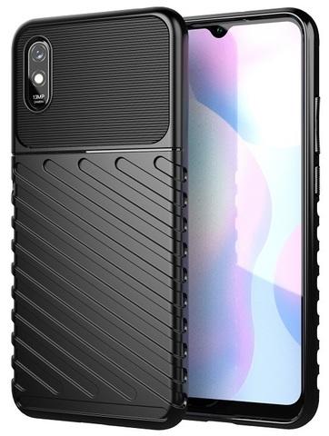 Чехол Carbon для Xiaomi Redmi 9A серия Оникс | черный